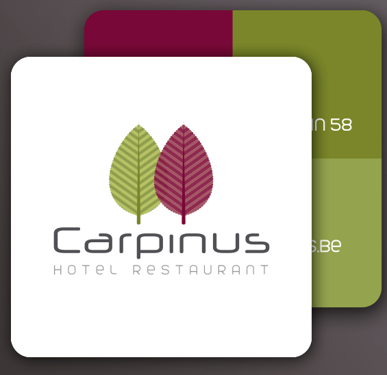 Carpinus square business card by Bloo agency