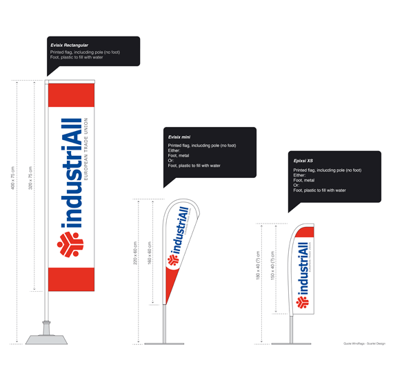 IndustriAll flags by Bloo agency